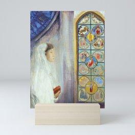"Odilon Redon ""Portrait of Simone Fayet in Holy Communion"" Mini Art Print"