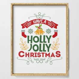 Have A Holly Jolly Christmas Gift For Holiday Serving Tray
