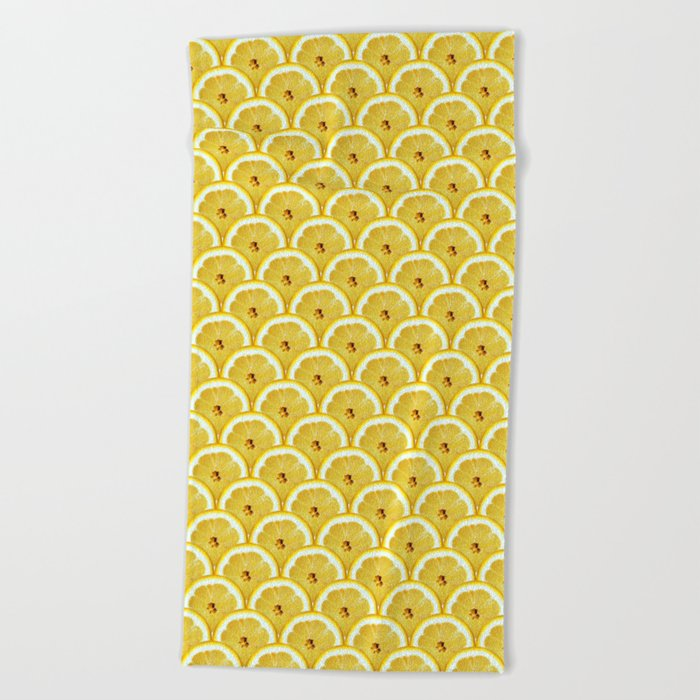 Lemons are watching you! Beach Towel