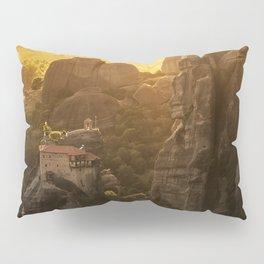 Golden hour at Meteora Pillow Sham