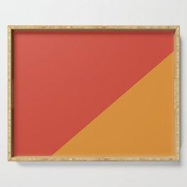 Warm Red & Orange - oblique Serving Tray
