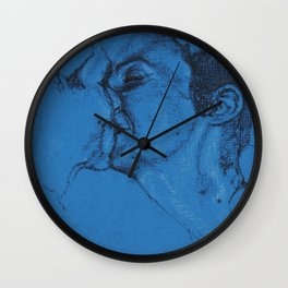 Sealed with a Kiss Wall Clock