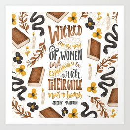 WICKED ARE THE WAYS OF WOMEN Art Print