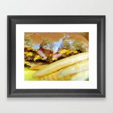 Cheeseburger and Fries Framed Art Print