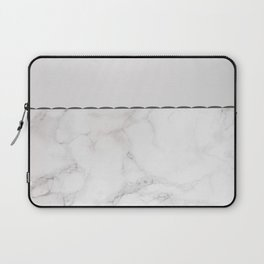 Elegant vintage white gray stylish marble Laptop Sleeve
