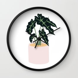Elephent Ear Plant Wall Clock