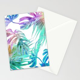 Simply Palm Leaves in Hologram Island Stationery Cards