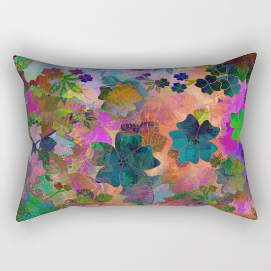 Fragrant Summer Field Rectangular Pillow