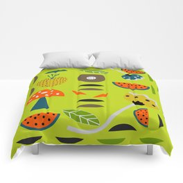 Modern decor with fruits and flowers Comforters
