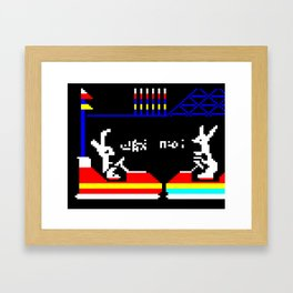 Do You Go Where I Go? page 14 (teletext) Framed Art Print