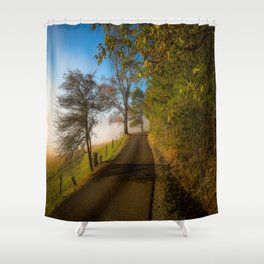 Smoky Morning - Whimsical Scene in Great Smoky Mountains Shower Curtain