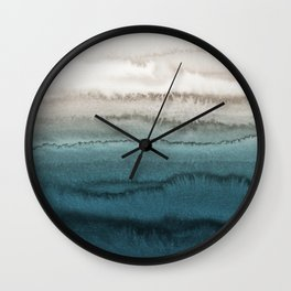 WITHIN THE TIDES - CRASHING WAVES TEAL Wall Clock