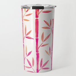 Bamboo Stems – Pink Palette Travel Mug