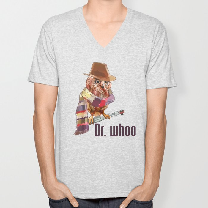 Dr. Who Owl Unisex V-Neck
