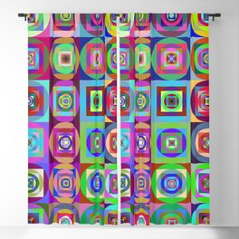 6x6 003 - abstract quilt pattern Blackout Curtain