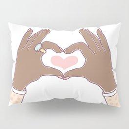 Hands Heart Shape Pillow Sham