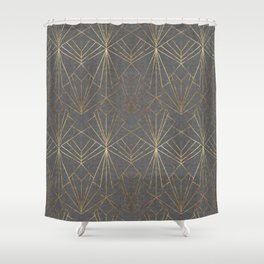 Art Deco in Gold & Grey Shower Curtain