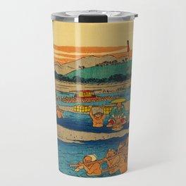 Porters Carry Travelers at Kanaya Japan Travel Mug