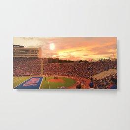 KU Memorial Stadium - Sunset Metal Print