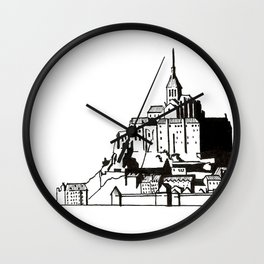 Mont Saint-Michel Wall Clock