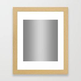 Gray to White Vertical Bilinear Gradient Framed Art Print