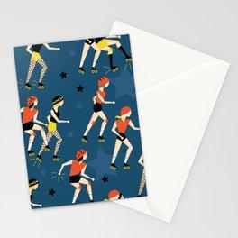 Roller Derby Girls Stationery Cards