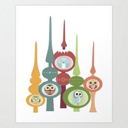 Owl Top That Tree Art Print