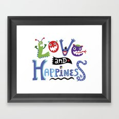 Love and Happiness Framed Art Print