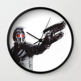 Star-Lord (Peter Quill) Guardians Graffiti Pop Urban Street Art Wall Clock