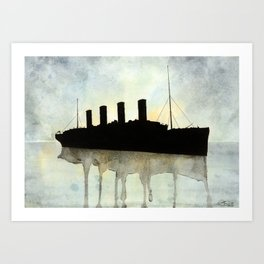 Titanic watercolour Art Print