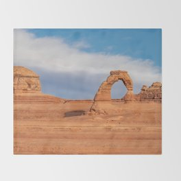 Delicate Arch 0415 - Arches National Park, Moab, Utah Throw Blanket