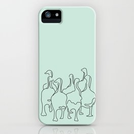Mama Goose and Goslings iPhone Case