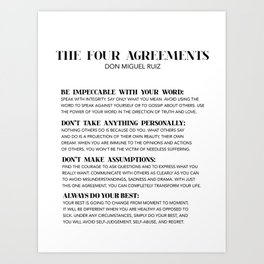 the four agreements Kunstdrucke