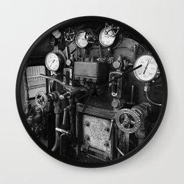 Steam Engine Controls Wall Clock