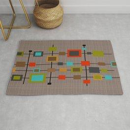 Mid-Century Modern Squares Pattern Rug