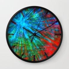 Abstract Big Bangs 001 Wall Clock