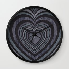 Loving hearts  decollage Wall Clock