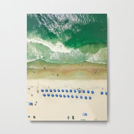 Aerial Beach 2 Metal Print
