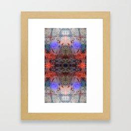Concrete Blossoms Framed Art Print