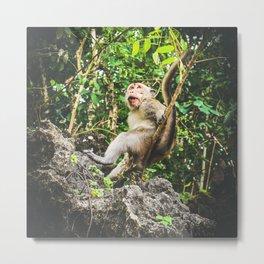 Cute Jungle Monkey Metal Print