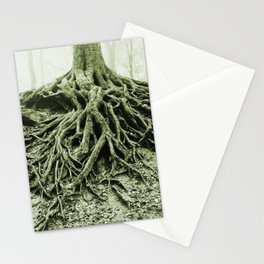 """""""Photography of Nature"""" Roots washed out of Soil at Borzsonyliget, Hungary Stationery Cards"""