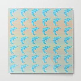 Dolphin Pattern Metal Print