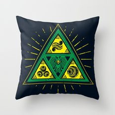 The Tribal Triforce Throw Pillow