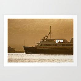Approaching Manly Wharf Art Print