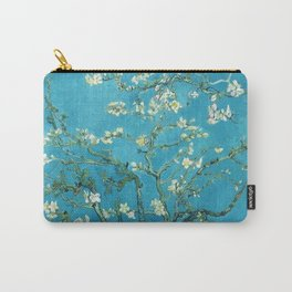 Vincent van Gogh Blossoming Almond Tree (Almond Blossoms) Light Blue Carry-All Pouch