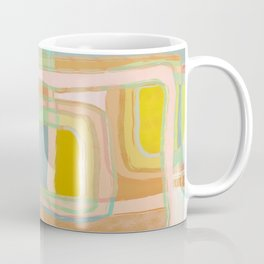 Shapes and Layers no.28 - Modern Squares and Stripes Coffee Mug