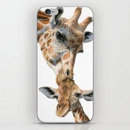 Mother And Baby Giraffe iPhone Skin