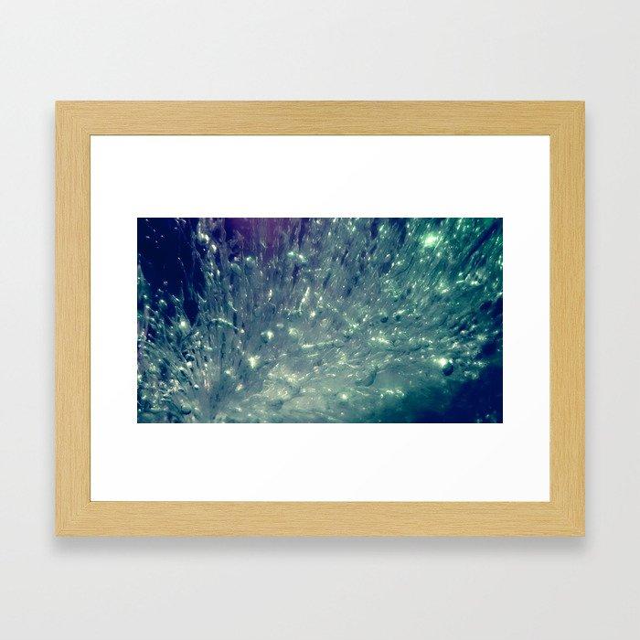 Ice Bubble Explosion Framed Art Print