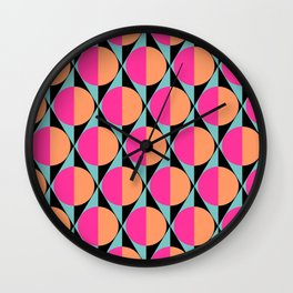 60s abstract pattern Wall Clock