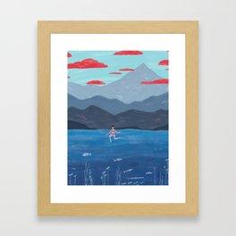 Summer Swim Framed Art Print
